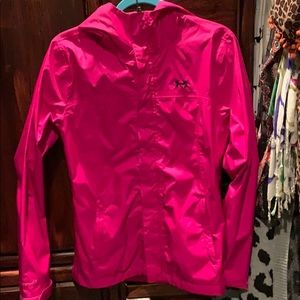 Hot pink under amour rain jacket